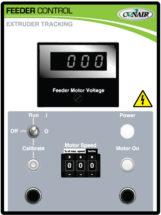 Conair extruder tracking feeder control