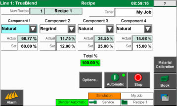 MedLine® TrueBlend active recipe screen