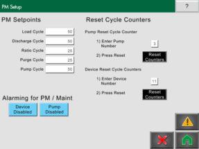 Conair FLX PM Setup screen