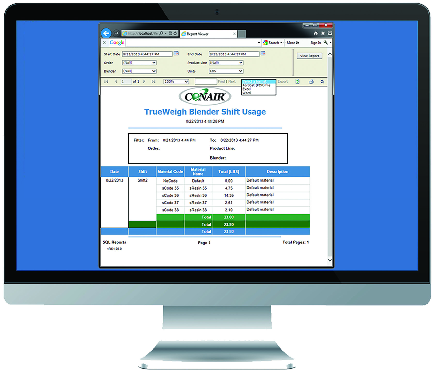 SQL Reporting Software