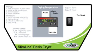 SlimLine™ Resin Dryer controls