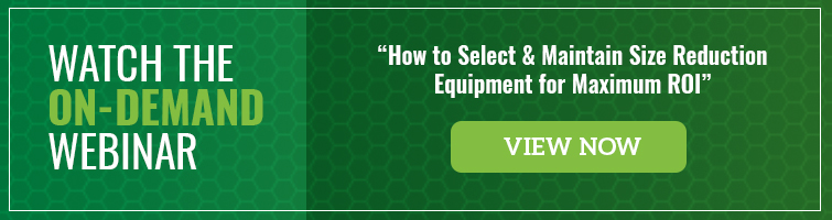 Watch the on-demand webinar on selecting & maintaining size reduction equipment