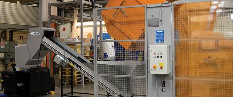 Conveyor-fed Granulator