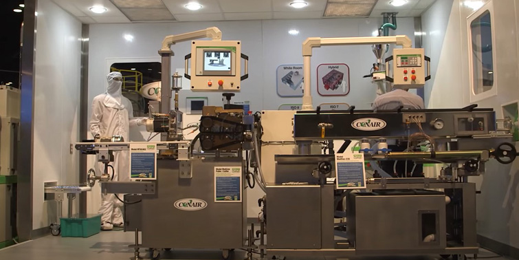 Medical-grade plastics production cleanroom