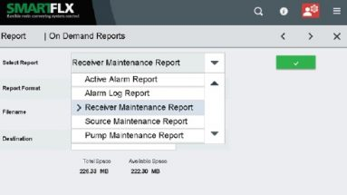 SmartFLX on-demand reporting screenshot
