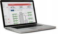 SmartServices dashboard on lapto