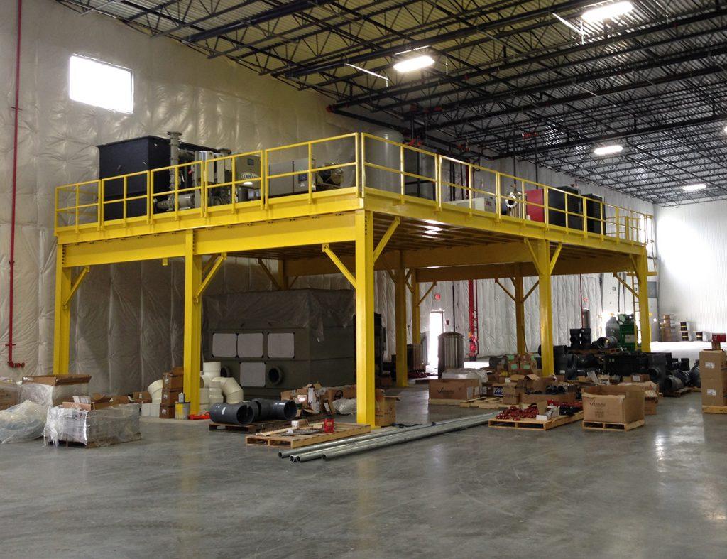 Conair installation on mezzanine