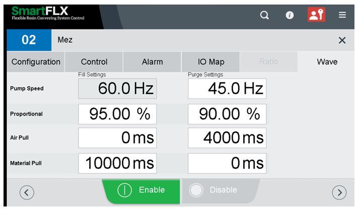 Receiver control screen showing manual programming